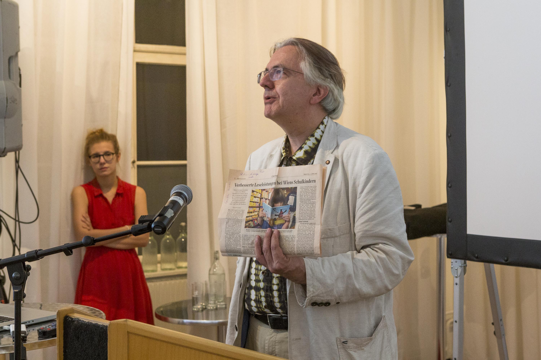 Eröffnung durch Dekan Univ. Prof. Matthias Meyer. (Foto Mario Habenbacher)