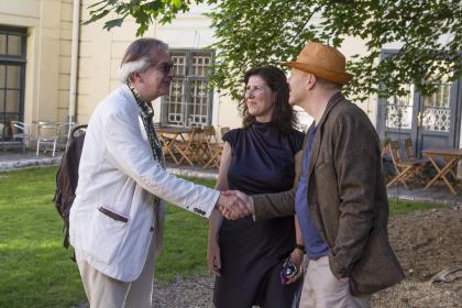 Jon Gnarr, Matthias Meyer, Eleonore Gudmundsson. (Foto Mario Habenbacher)